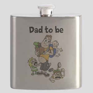 Funny Dad To Be Flask   Parenting Humor For Daddy