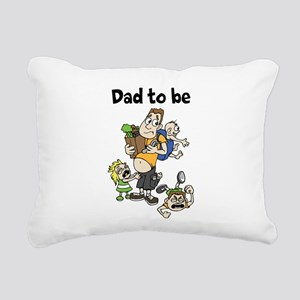Funny dad to be Rectangular Canvas Pillow