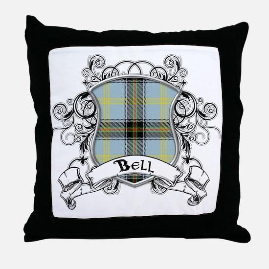 Bell Tartan Shield Throw Pillow