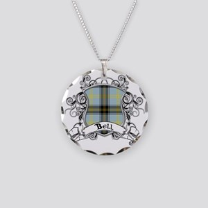 Bell Tartan Shield Necklace Circle Charm