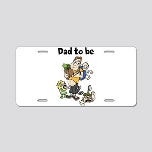 Funny dad to be Aluminum License Plate