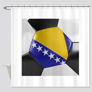 Bosnia and Herzegovina Soccer Ball Shower Curtain