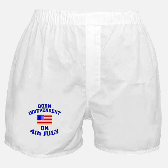 July 4 Born Independent Boxer Shorts
