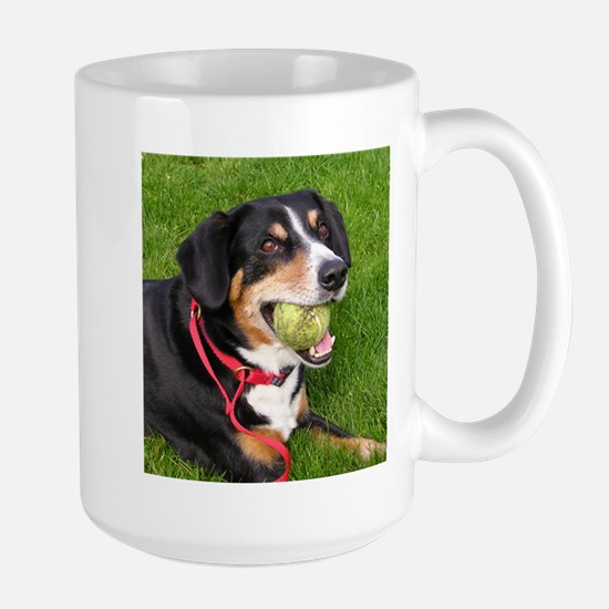 entlebucher mountain dog w ball Mugs