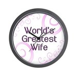 World's Greatest Wife Wall Clock