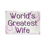World's Greatest Wife Rectangle Magnet (100 pack)