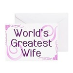 World's Greatest Wife Greeting Cards (Pk of 10)