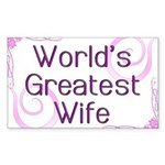 World's Greatest Wife Rectangle Sticker