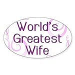 World's Greatest Wife Oval Sticker