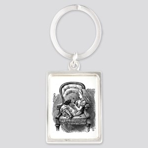 Vintage black and white alice in Portrait Keychain