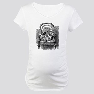 Vintage black and white alice in Maternity T-Shirt