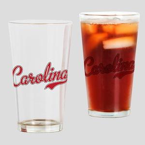 South Carolina Script Font Drinking Glass