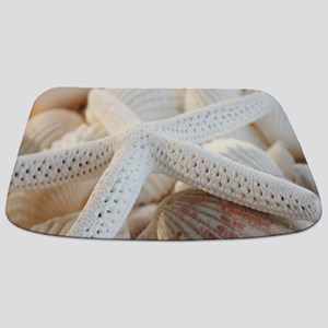 Beautiful Starfish Seashells Bathmat