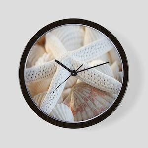 Beautiful Starfish Seashells Wall Clock