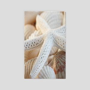 Beautiful Starfish Seashells 3'x5' Area Rug