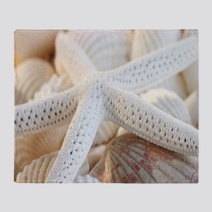 Beautiful Starfish Seashells Throw Blanket