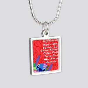 10 & Under Team Silver Square Necklace