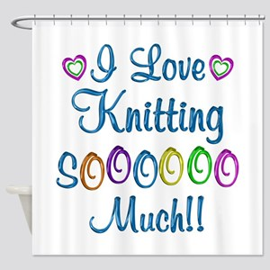 Knitting Love So Much Shower Curtain