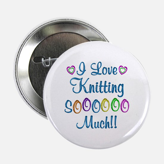 """Knitting Love So Much 2.25"""" Button (10 pack)"""