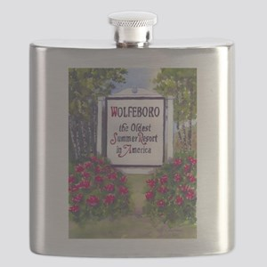 Wolfeboro NH Sign Flask