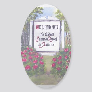 Wolfeboro NH Sign Sticker (Oval)