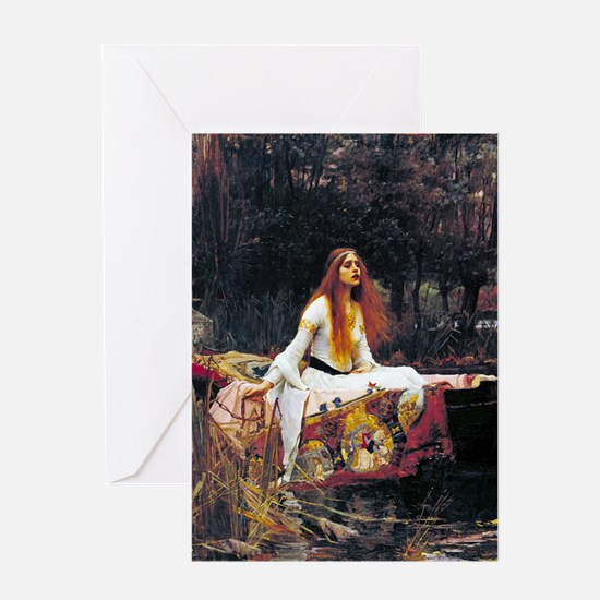 Waterhouse Lady Of Shalott Greeting Cards
