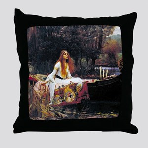 Waterhouse Lady Of Shalott Throw Pillow