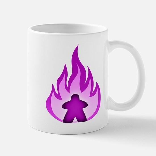 Fire Meeple Purple Mugs