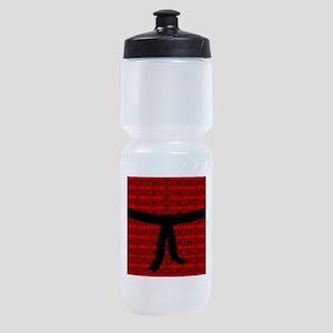 Martial Artist Black Belt red Sports Bottle