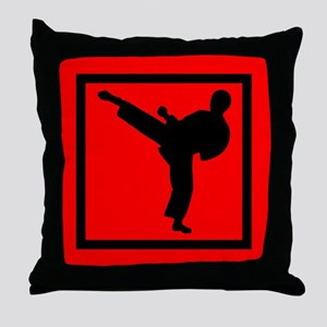Martial Arts Kids Throw Pillow