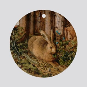 Hare In The Forest Ornament (Round)