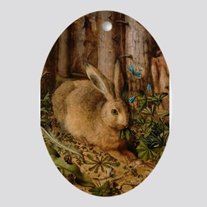 Hare In The Forest Ornament (Oval)