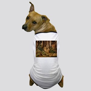 Hare In The Forest Dog T-Shirt