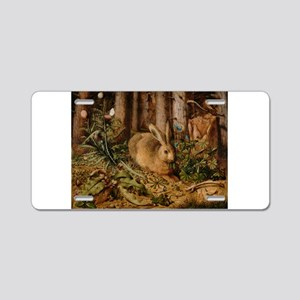 Hare In The Forest Aluminum License Plate