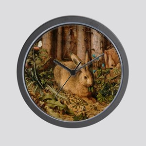 Hare In The Forest Wall Clock