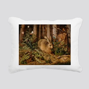 Hare In The Forest Rectangular Canvas Pillow
