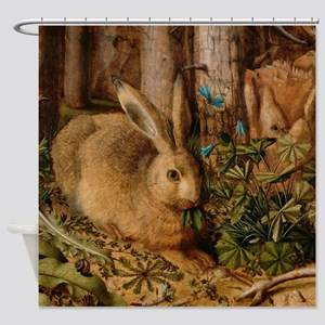 Hare In The Forest Shower Curtain