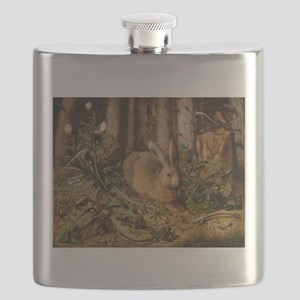 Hare In The Forest Flask