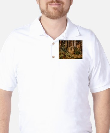 Hare In The Forest Golf Shirt