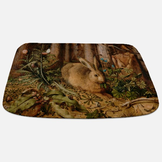 Hare In The Forest Bathmat
