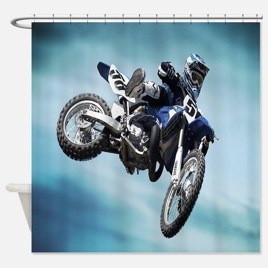 Dirt Bike Jump Shower Curtain