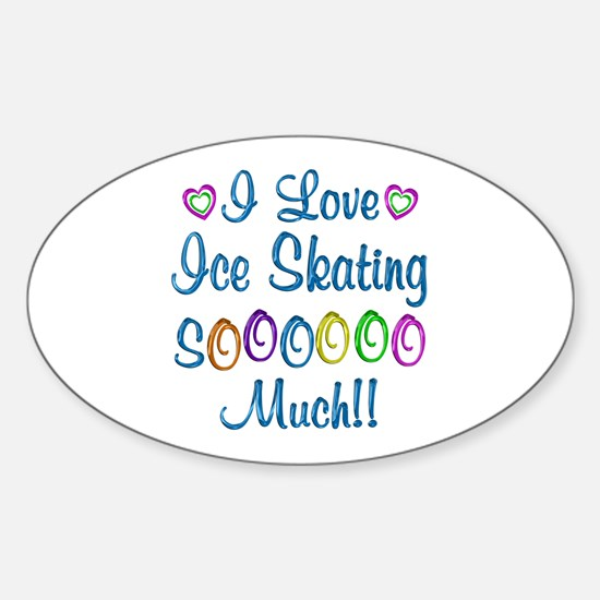 Ice Skating Love So Much Sticker (Oval)