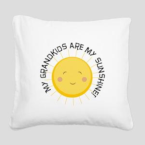Grandkids Are Sunshine Square Canvas Pillow