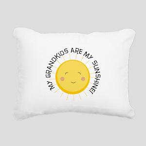 Grandkids Are Sunshine Rectangular Canvas Pillow