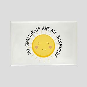 Grandkids Are Sunshine Rectangle Magnet