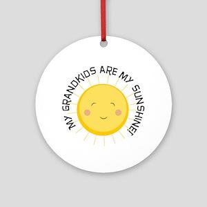 Grandkids Are Sunshine Ornament (round)