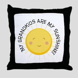 Grandkids Are Sunshine Throw Pillow