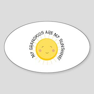 Grandkids Are Sunshine Sticker (Oval)