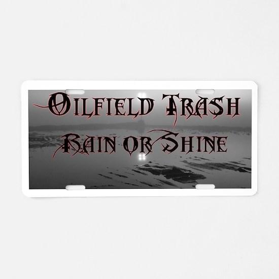 Funny Field Aluminum License Plate