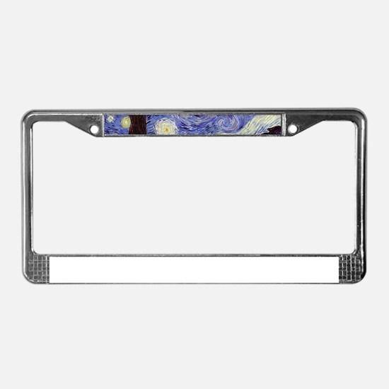 Van Gogh Starry Night License Plate Frame